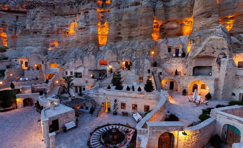 Cave hotels in Cappadocia Turkey 2