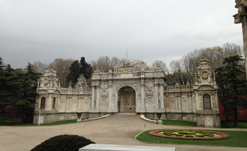 Imperial Gate Dolmabahce Palace Istanbul