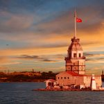 Maiden Tower in Istanbul Bosphorus