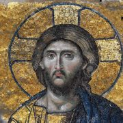 Mosaics in Santa Sophia Museum in Istanbul Turkey